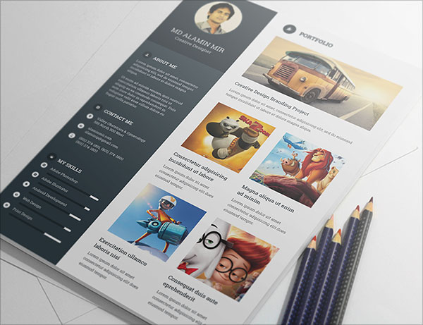 20 Best Free Resume CV Templates In Ai Indesign & PSD