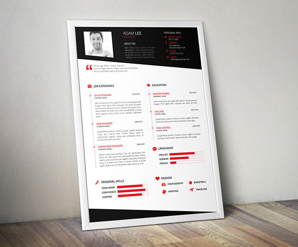 50+ Beautiful Free Resume (CV) Templates in Ai, Indesign & PSD Formats