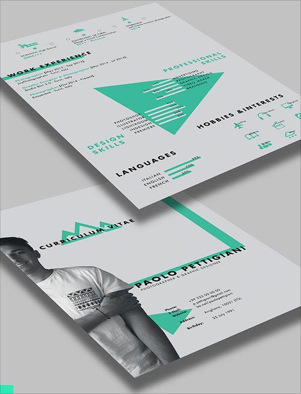 cv design psd gratuit