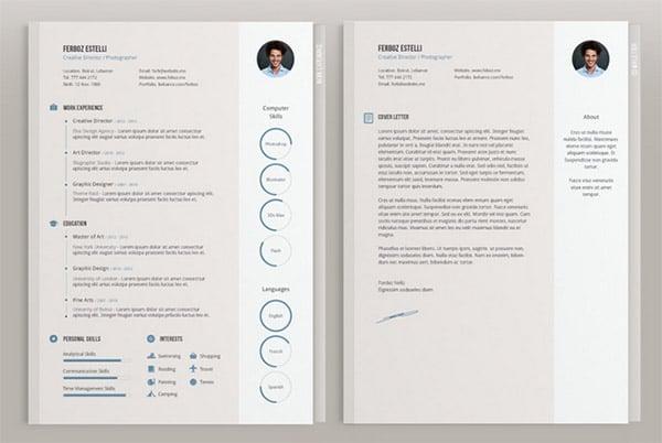 adobe indesign resume template