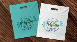 Free plastic pouch packaging mockup. Free Plastic Poly Bag Mock Up Psd