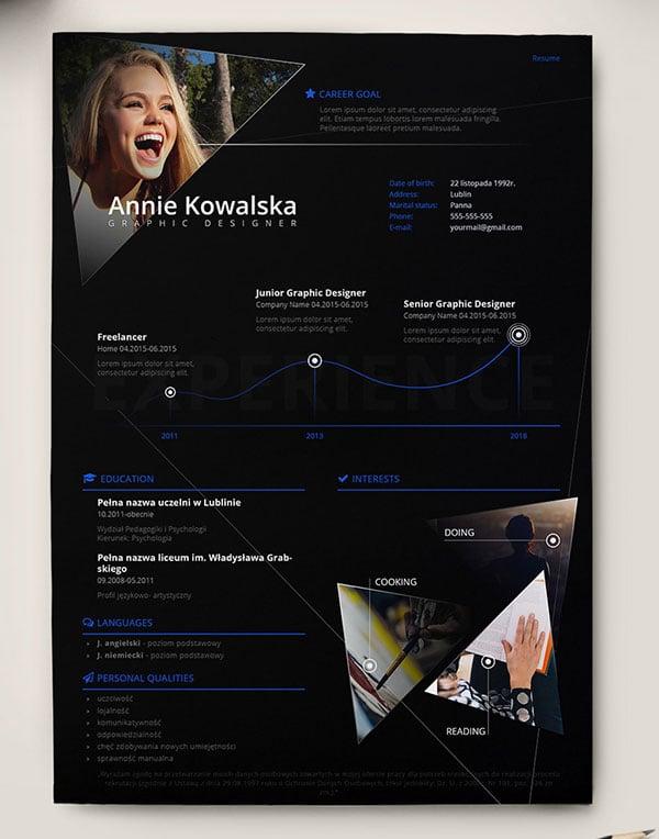 resume templates indesign free