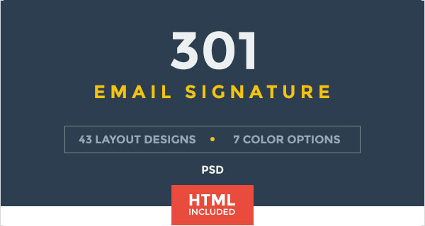 50 Best Professional HTML & Outlook Email Signature