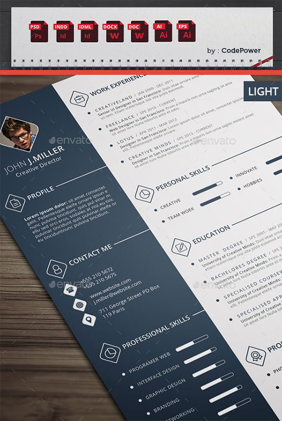 10 All Time Best Premium Simple & Infographic Resume CV Template