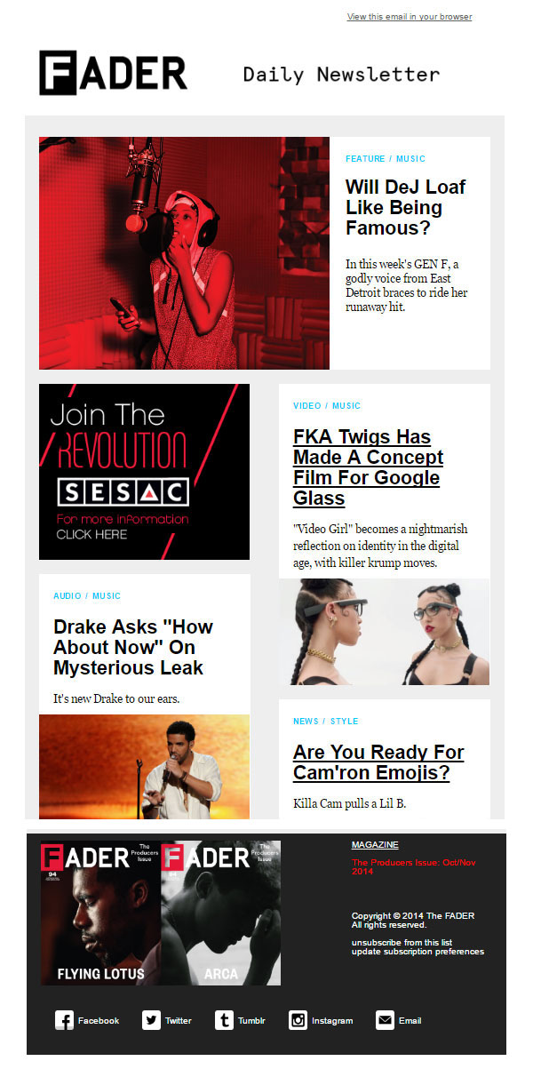 25 Creative Email Newsletter Design Ideas Inspiration