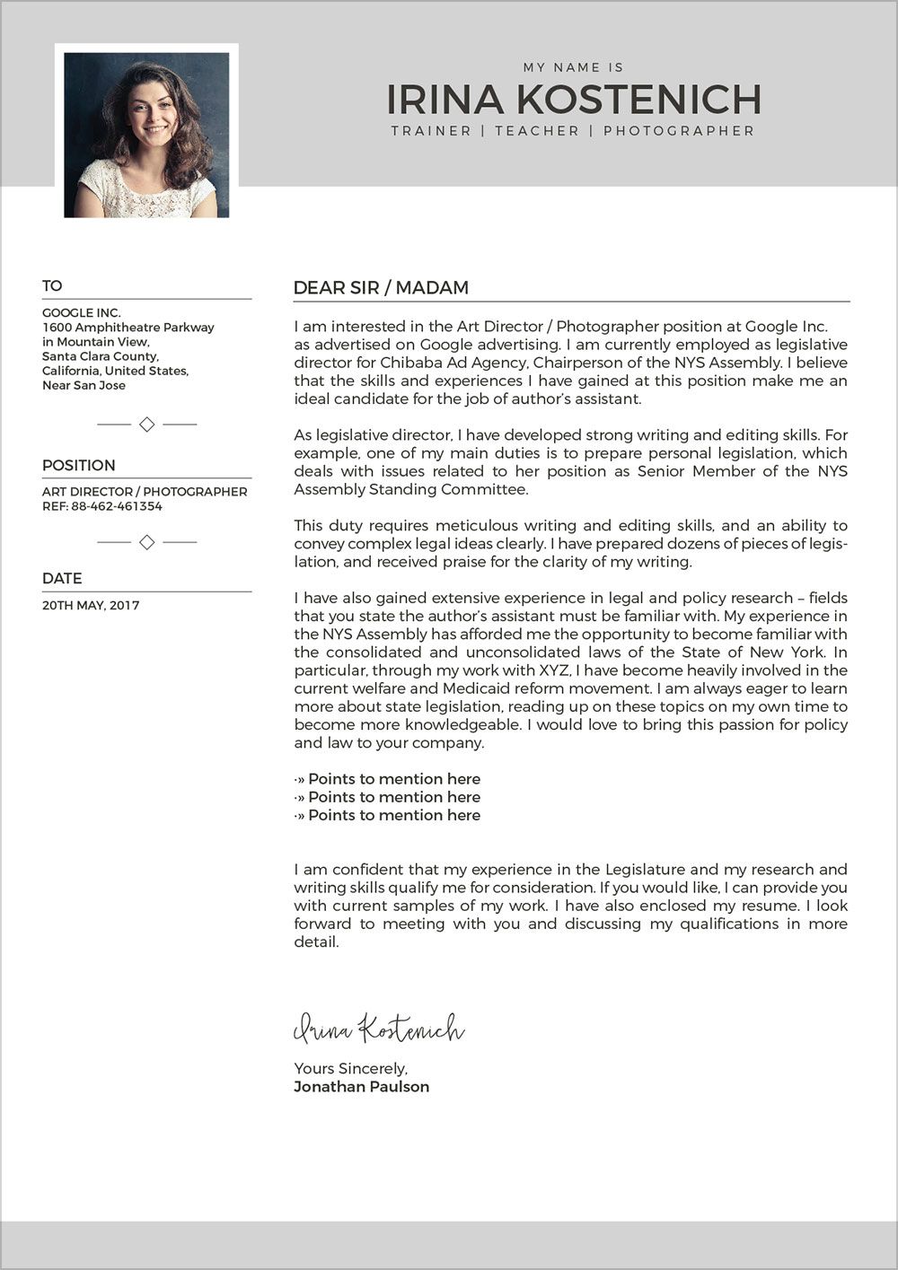 Free Modern CV Template Cover Letter  Portfolio Design Template in Vector Ai