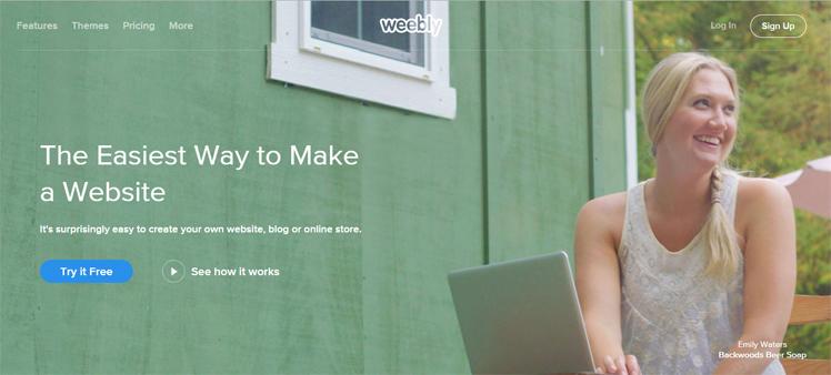 weeblyhomepage Best Website Builder: Wix vs Squarespace vs Virb vs Weebly