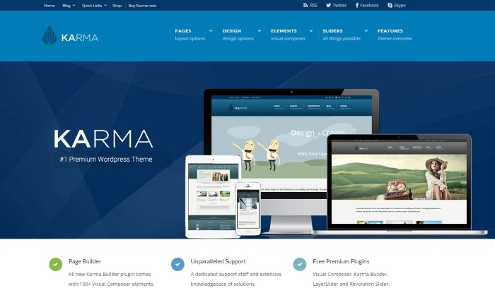 karma 7 Top Corporate / Business WordPress Themes + What Makes Them Great