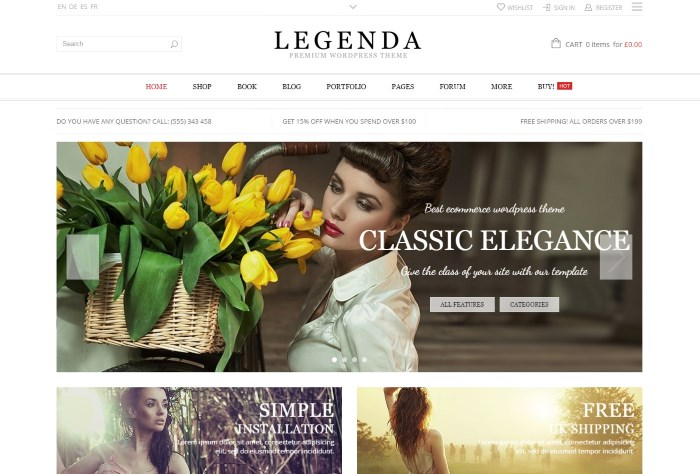 legenda 7 Top WooCommerce WordPress Themes on the Market + Why They're Best