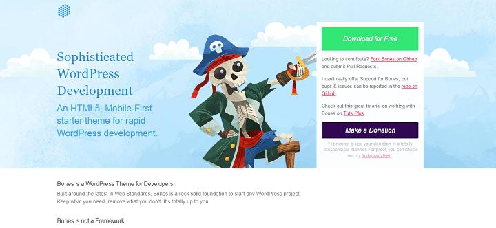bones 8 Best WordPress Starter Themes And Frameworks For New WP Developers