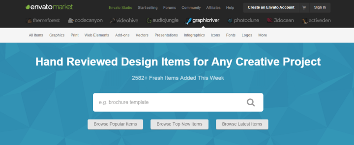graphicriver 10 of the Best Sites to Find PSD Designs and Elements