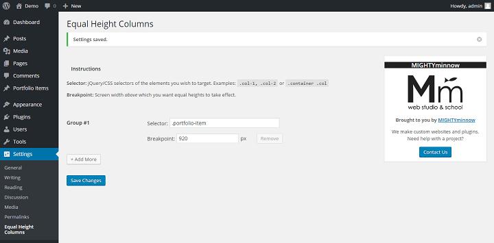 equalheightcolums How to Create a Portfolio Site Using Advanced Custom Fields