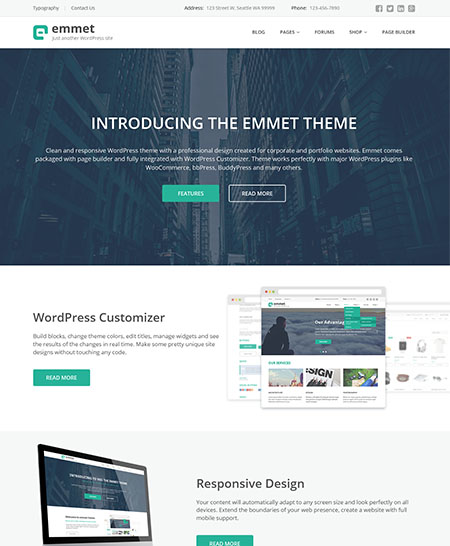 emmet-wordpress-theme 21+ Best Free Responsive WordPress Themes for 2017
