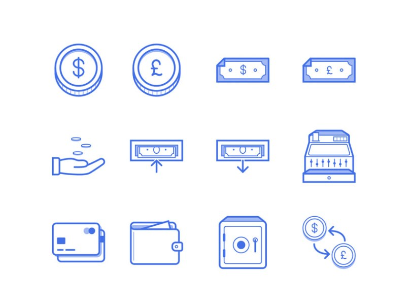 finance-icon-set Freebie: Finance Icon Set (SVG, PNG, Sketch, AI)