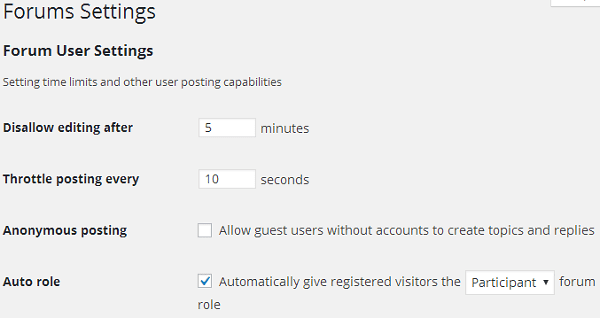 forum-settings bbPress: How to Add a Forum to Your WordPress Site