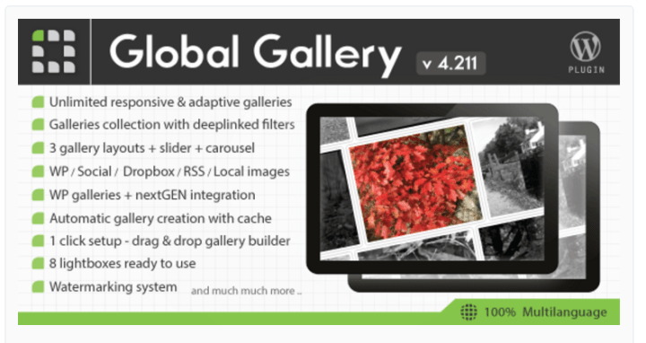 global-gallery 8 of the Best Gallery WordPress Plugins Compared