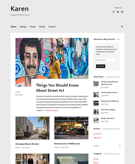 karen-wordpress-theme 21+ Best Free Responsive WordPress Themes for 2017