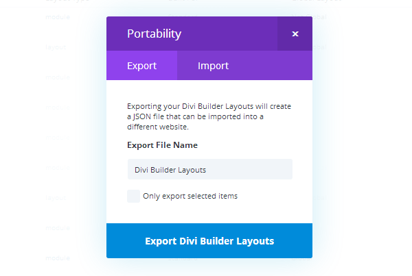 divi-library-export Divi Builder Plugin Review: An Overview of Elegant Themes' Page Builder Plugin