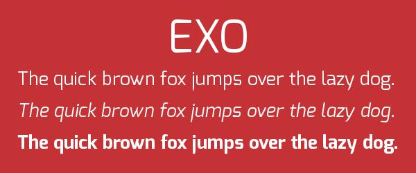 exo Best Fonts for Websites: 25 Free Fonts for Websites