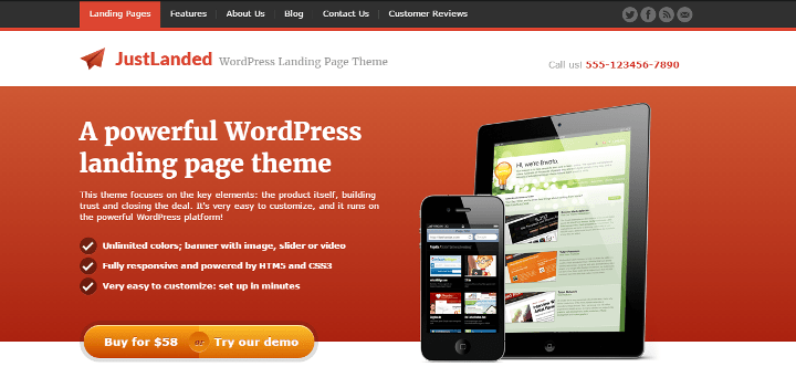 justlanded 6 of Best Landing Page & Sales Page Themes for More Leads & Traffic