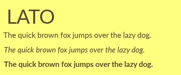 lato Best Fonts for Websites: 25 Free Fonts for Websites