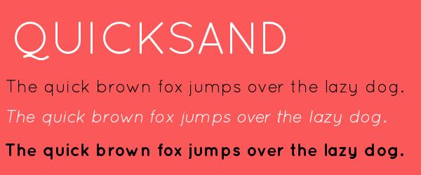 quicksand Best Fonts for Websites: 25 Free Fonts for Websites
