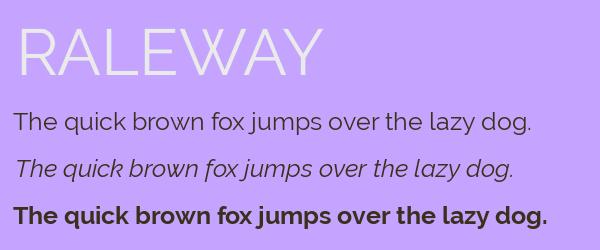 raleway Best Fonts for Websites: 25 Free Fonts for Websites