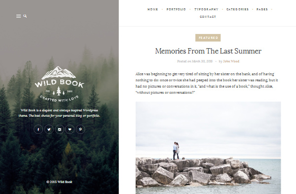 wild-book 15 of the Very Best WordPress Themes for Writers