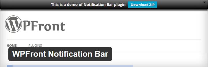 wpfront-notification-bar Best Notification Bar Plugins for Your WordPress Site