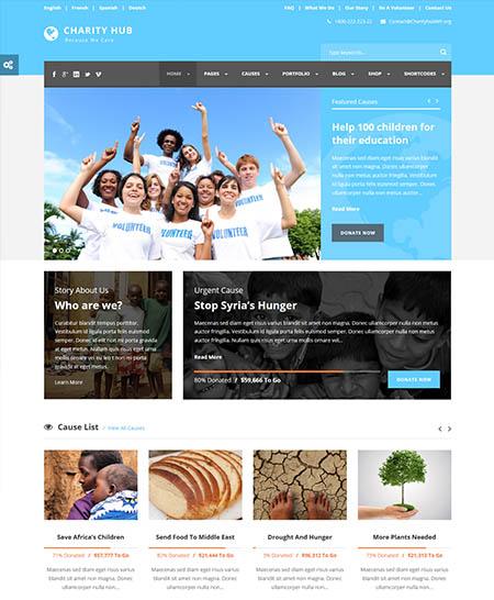 charity-hub-wordpress-theme 12 Best Non-Profit & Charity WordPress Themes