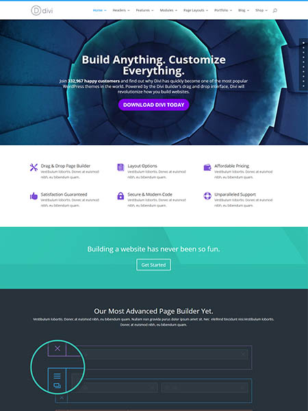 divi-theme 13 of the Best Drag and Drop Theme Builders for WordPress