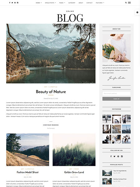 grand-blog-theme 20+ Best Personal WordPress Blog Themes For Corporate, Fashion, Travel, And Personal Blogs