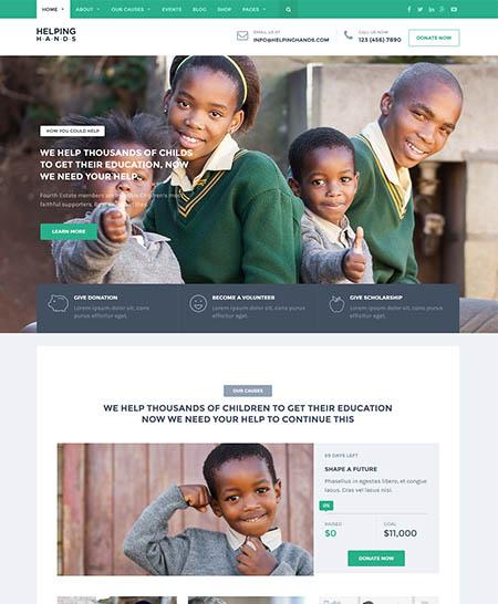 helping-hands-wordpress-theme 12 Best Non-Profit & Charity WordPress Themes