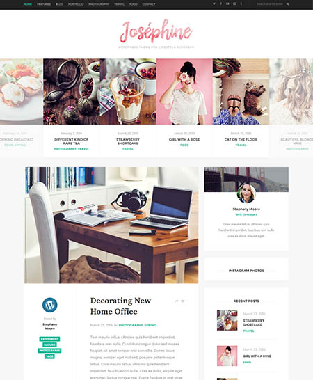 josephine-theme 20+ Best Personal WordPress Blog Themes For Corporate, Fashion, Travel, And Personal Blogs