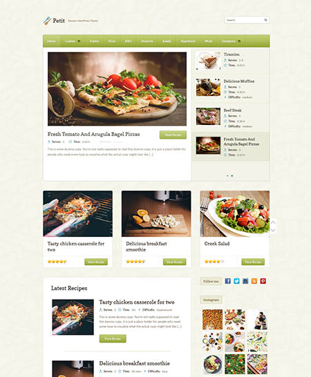 petit-wordpress-theme 13 Best Food Themes for Sharing Recipes