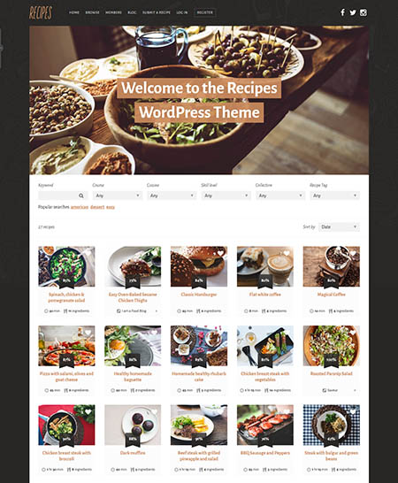 recipes-wordpress-theme 13 Best Food Themes for Sharing Recipes