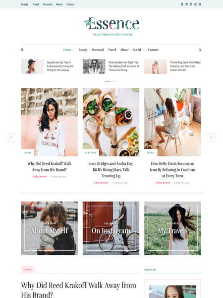 the-essence 18 Best Multi Purpose WordPress Themes for 2017