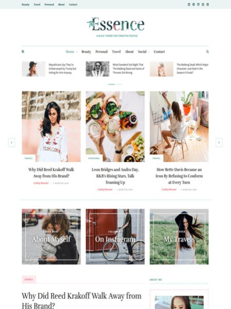 the-essence 20+ Best Personal WordPress Blog Themes For Corporate, Fashion, Travel, And Personal Blogs