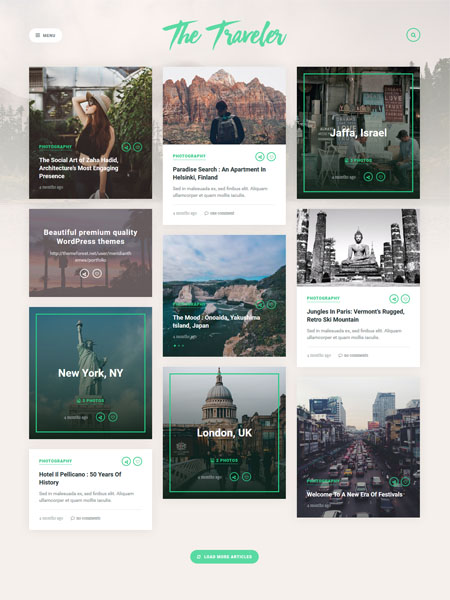 the-traveler-theme 20+ Best Personal WordPress Blog Themes For Corporate, Fashion, Travel, And Personal Blogs