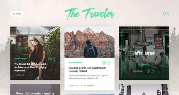the-traveler 15 of the Very Best WordPress Themes for Writers