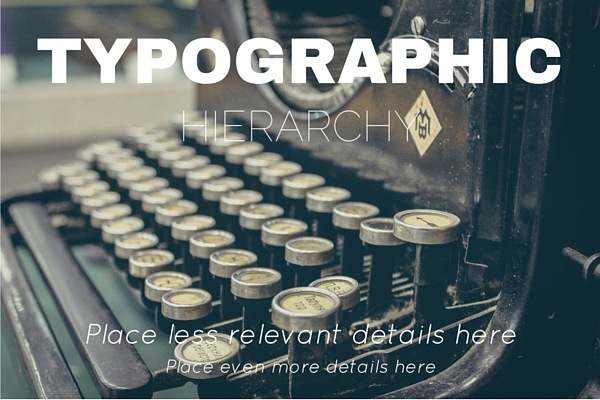 typographic-hierarchy Visual Hierarchy: Improving Your Designs with Typographic Hierarchy