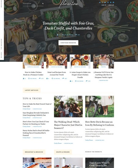 meridian-recipes 20+ Best Personal WordPress Blog Themes For Corporate, Fashion, Travel, And Personal Blogs