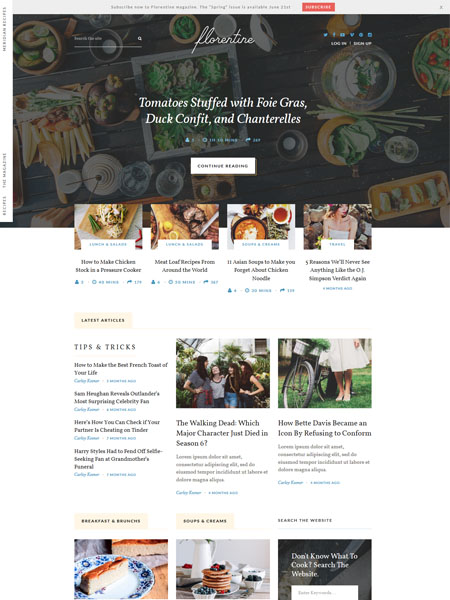 meridian-recipes 30 Newsworthy Magazine WordPress Themes for Blogs & Magazines