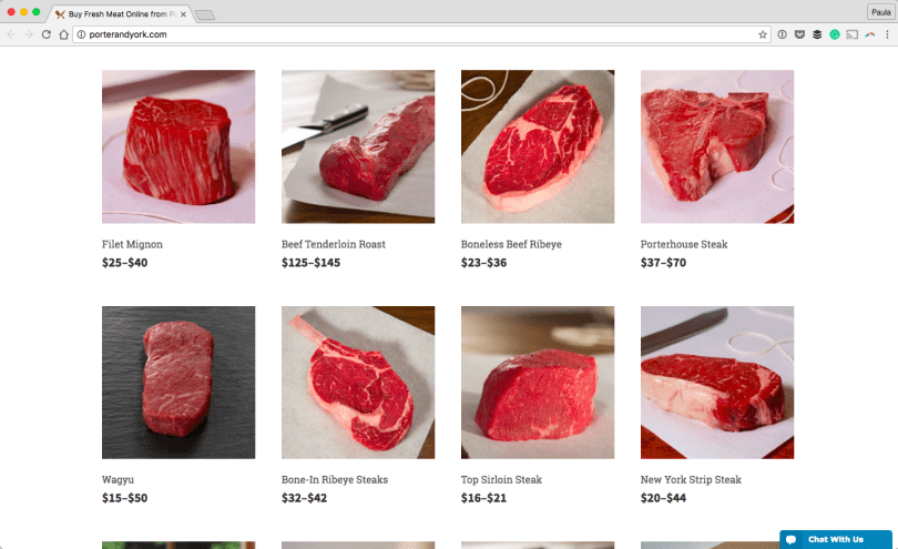 Buy-Fresh-Meat-Online-from-Porter-and-York-2016-09-26-14-52-45 16 Beautiful Websites Running on WooCommerce