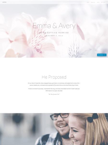 emma 20 Stunning WordPress Wedding Themes for 2017