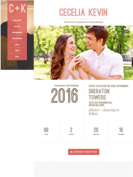 eternity 20 Stunning WordPress Wedding Themes for 2017