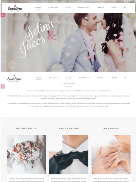 everline 20 Stunning WordPress Wedding Themes for 2017