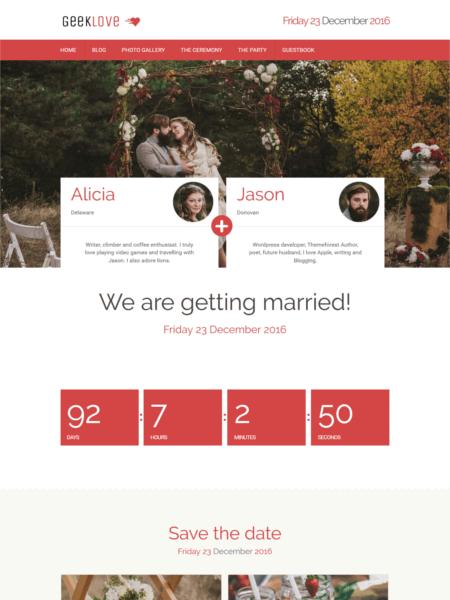geeklove 20 Stunning WordPress Wedding Themes for 2017