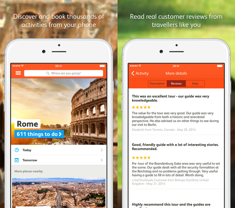 getyourguide 12 Travel Apps that are Useful and Beautiful