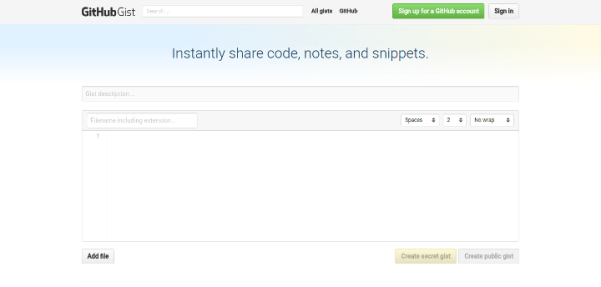 github-gist 15 Useful Code Sharing Websites for Web Developers